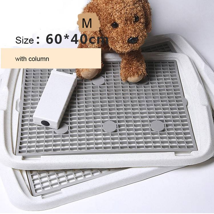 Plastic Dog Toilet Tray with Column Pet Products