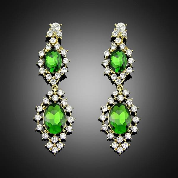 New arrival hot sales Lovely Cute Sweet Faux Crystal Rhinestone dangle earrings Free Shipping & Whol
