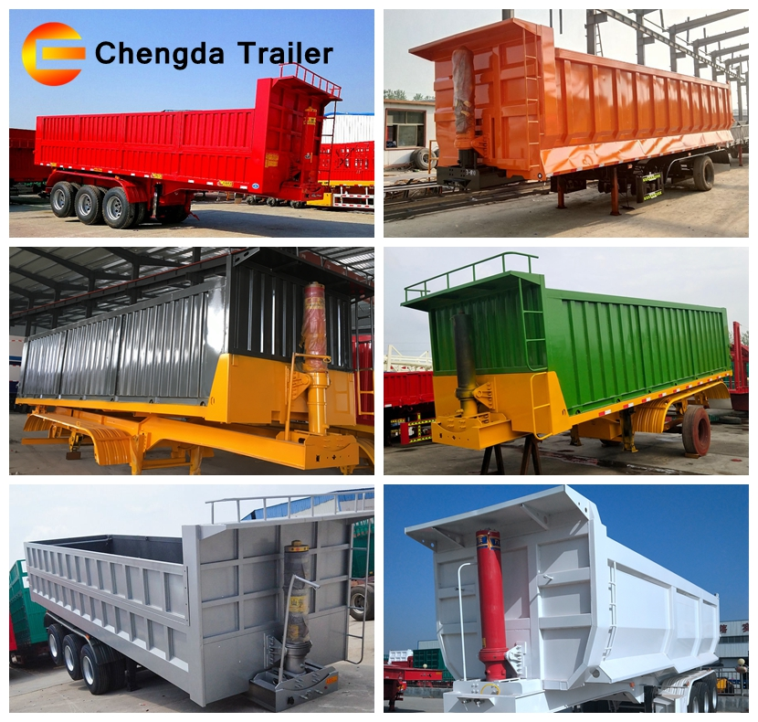 Chengda Brand with hydraulic cylinder dump tipping car trailer