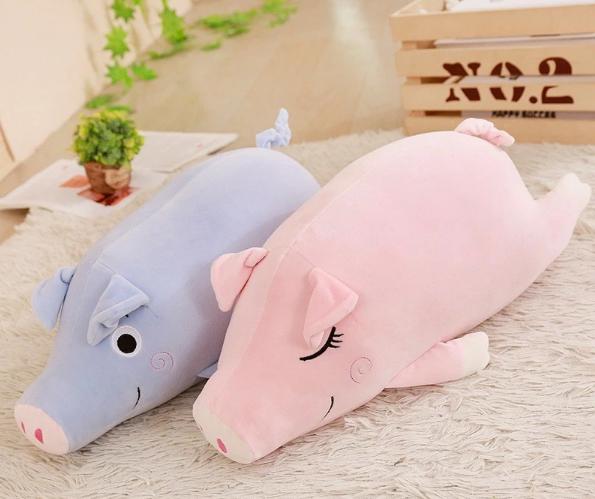 Super Soft Spandex plush material plush pig stuffed animal toys