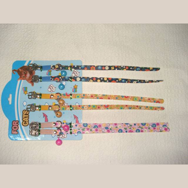 Colourful Leather Cat Collar
