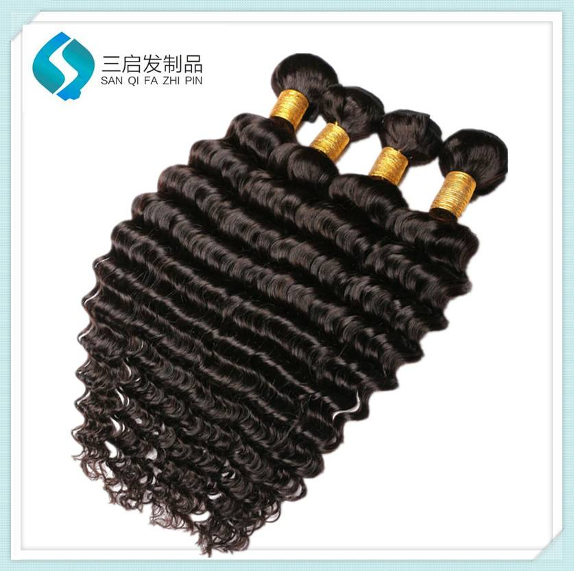 10a Grade Deep Wave Hair Weft curly hair extension for black women
