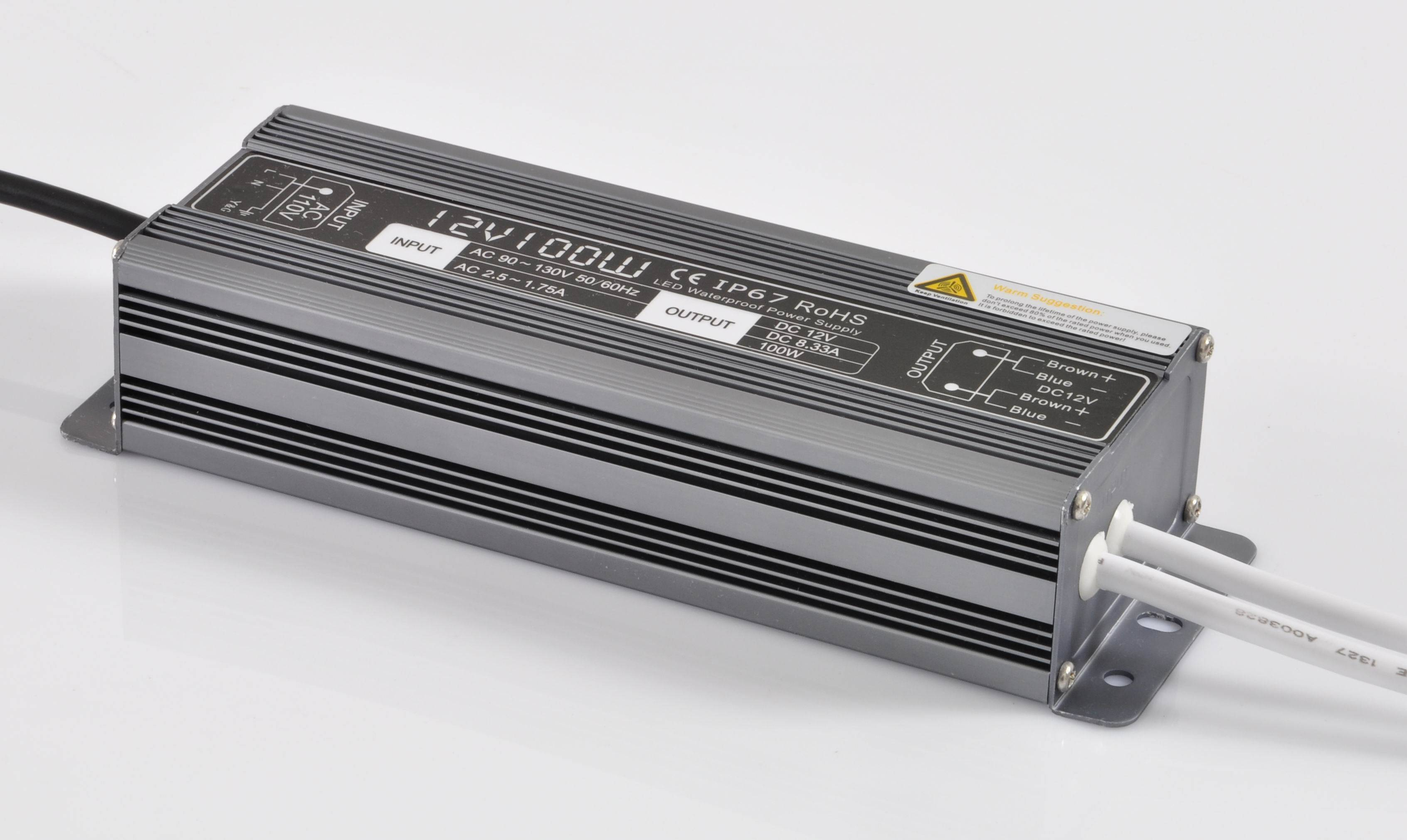 IP67 100W 12V Waterproof LED Power Supply With CE RoHS FCC