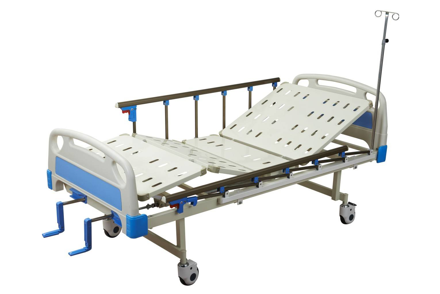 High quality Economical Comfortable hospital Double crank Manual abs adjustable beds