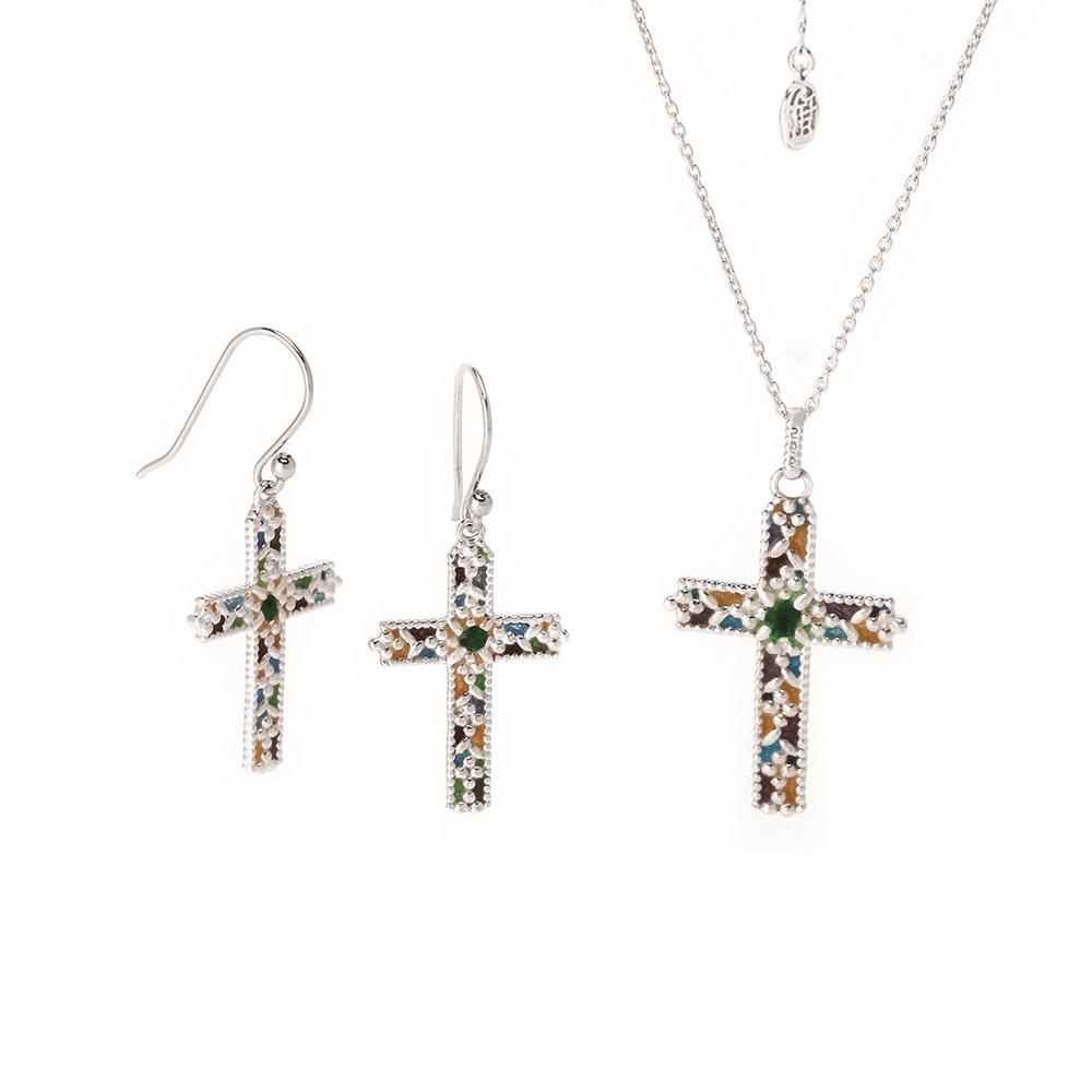 Necklace + Drop earrings Fall in Love