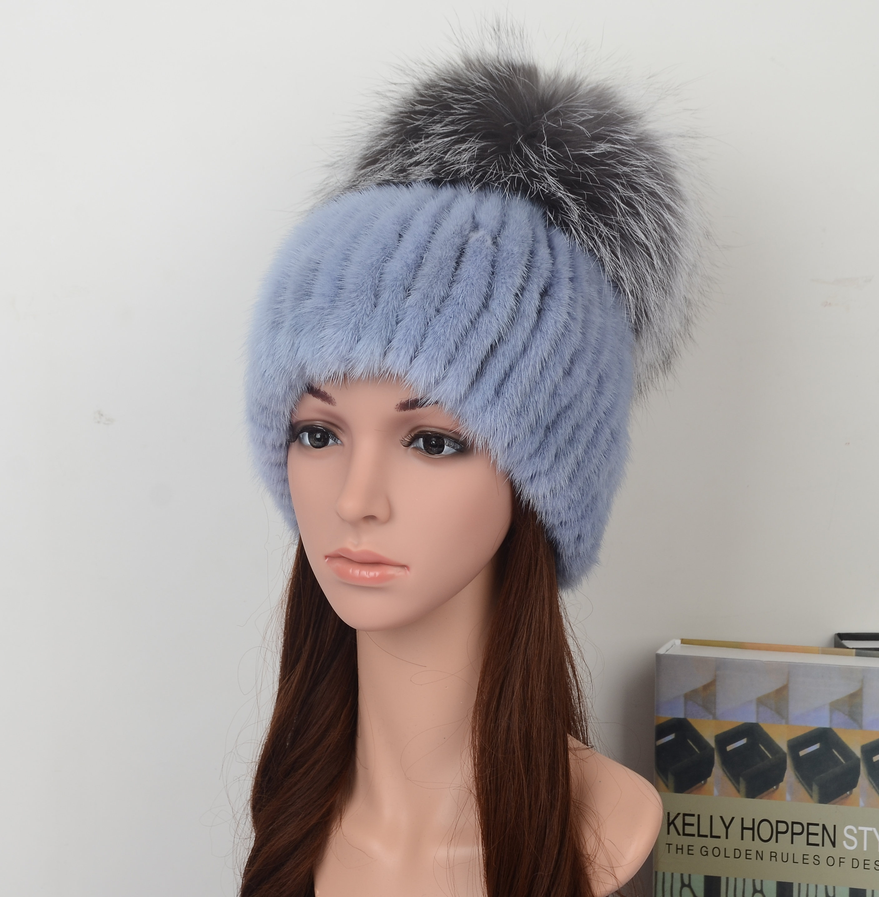 Mink Fur Hat Fashion Style ,Model06