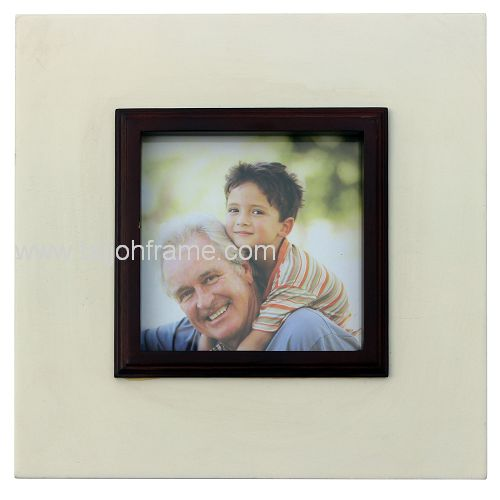 Personalized Double Color Wooden Photo Frame