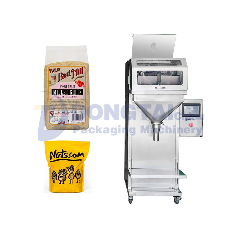 Semi-automatic food granule packing machine Granule packing machine quantitative bagging machine