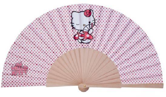 promotional Spanish wood hand fan