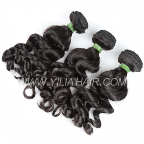 Golden Grade 3 or 4 bundles Brazilian Virgin Hair bundles Big Curl Virgin Brazilian