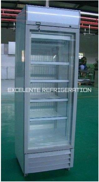 Upright Glass Door Freezer Excelente International Refrigeration