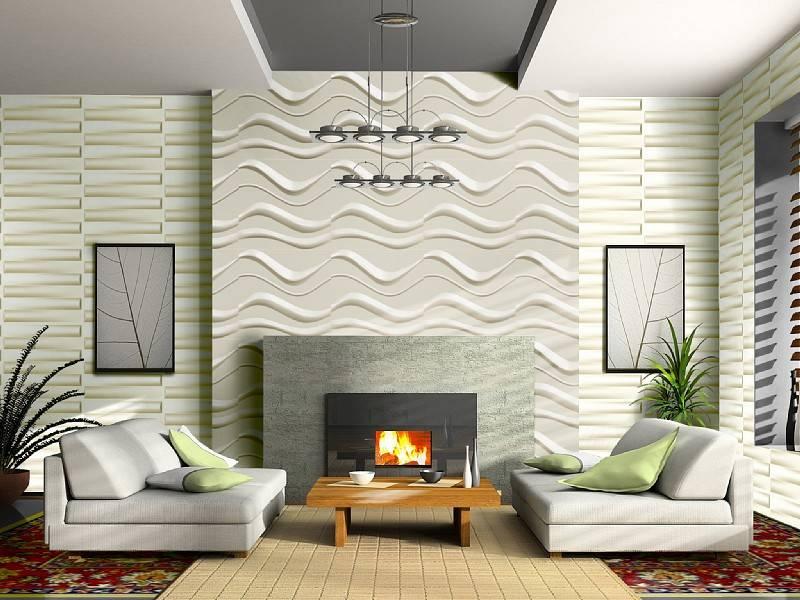 Interior decorative 3d wall panels