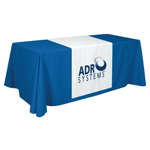 Ad table cloth, printed table cover, custom table banner