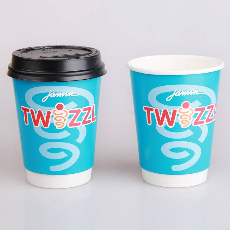 Food grade disposable double wall paper cups for coffee
