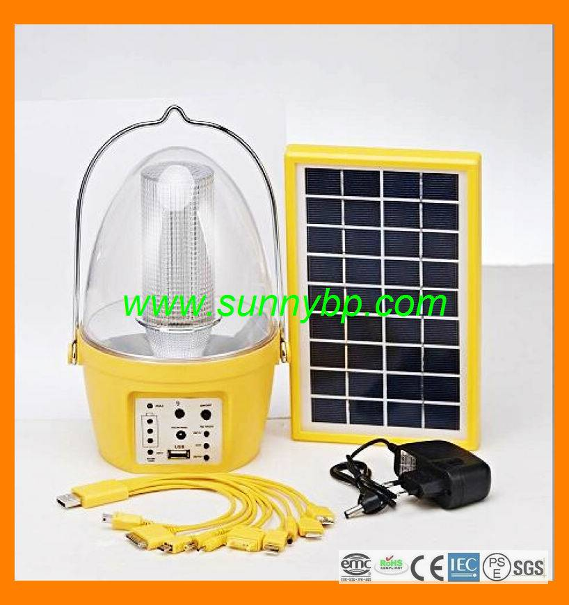 2015 China Manufacturer New Design Solar Lantern Lamp for Camping with Mobile Phone Charger and MP3