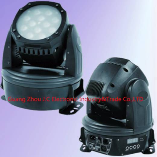 12pcs 12w RGBW 4in1 led moving head wash zoom light