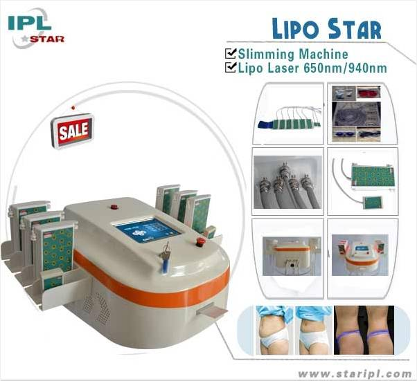 Dual wavelength 650nm&940nm laser lipo equipment