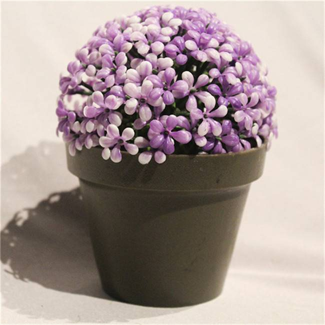 Bulk Fake Potted Artificial Plastic Bonsai Flower in Plastic Planter for Sale