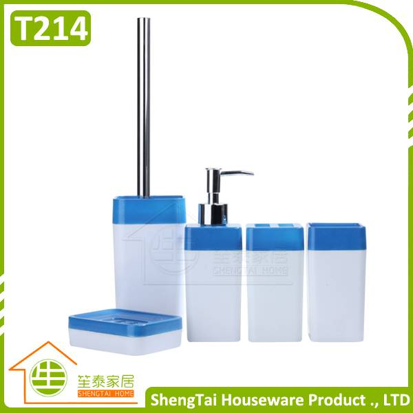 5pcs plastic bathroom set china, china bathroom accessories