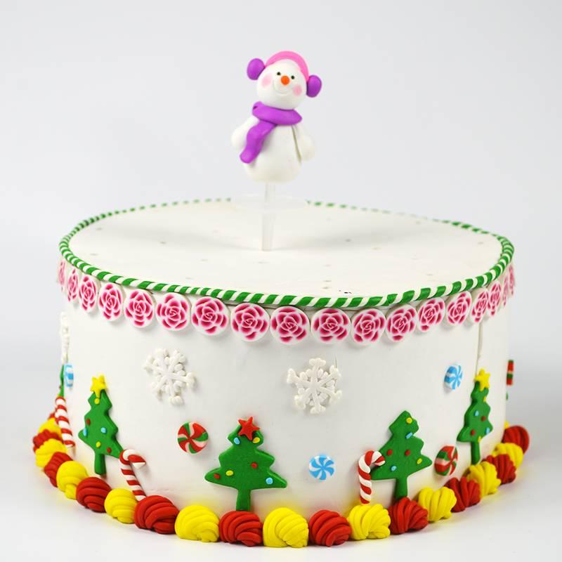 High quality handmade  polymer clay fimo christmas cake decoration