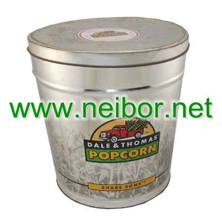 popcorn bucket,tin bucket with lid,food container