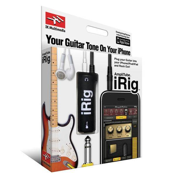 Hot selling AmpliTube iRig Guitar amp & effects for iPhone iPad Retail Color Box Pack