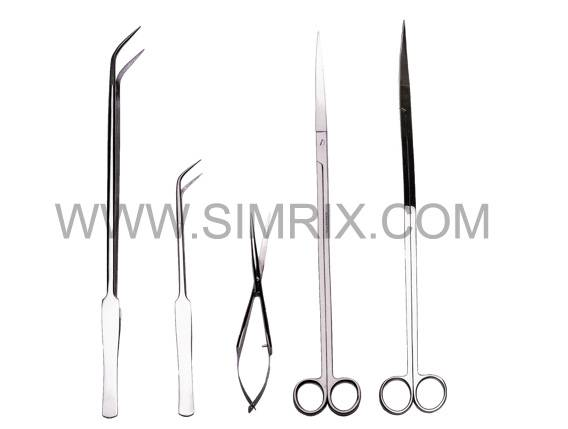 Stainless steel tools Set for easy aquarium maintenance