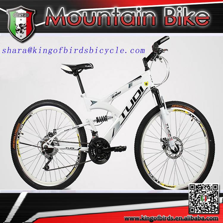 2016 new design mtb dual suspension mountain bike made in china
