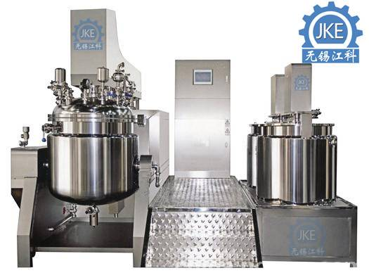 150Liter Cream Shampoo Vacuum Emulsifying Machine Hand Cream Making Equipment PLC Touch Screen