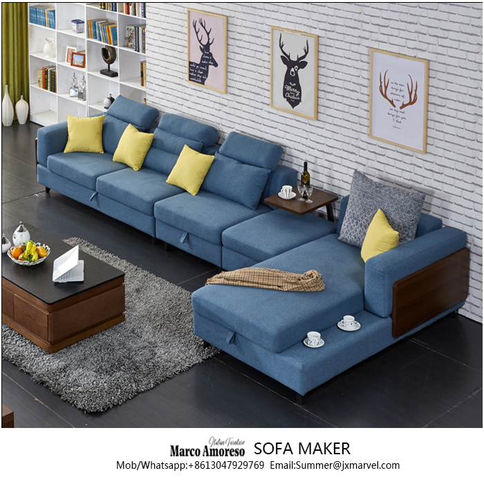 Import Furniture From China Fabric Sofa L Shaped Sofa Sectional Sofa ...