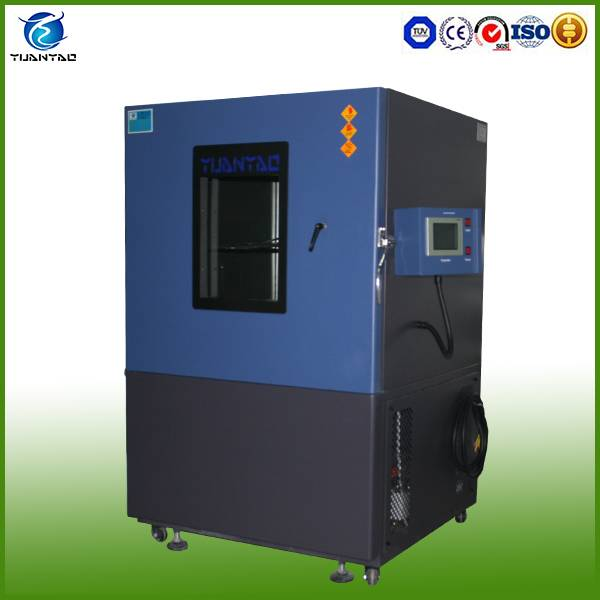 Electronic dust test chamber