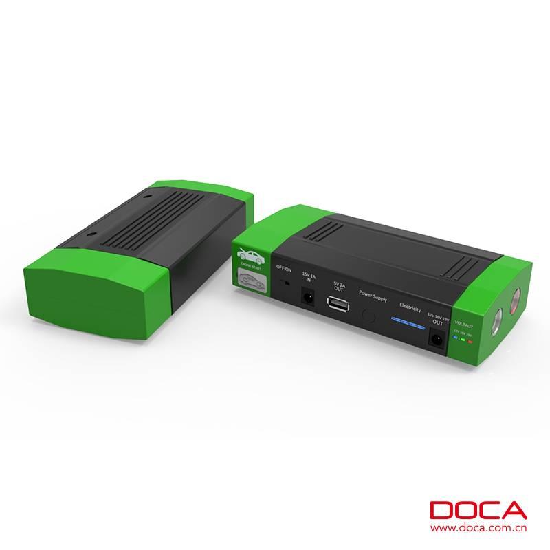 2016 latest model DOCA high current portable jump starter D589
