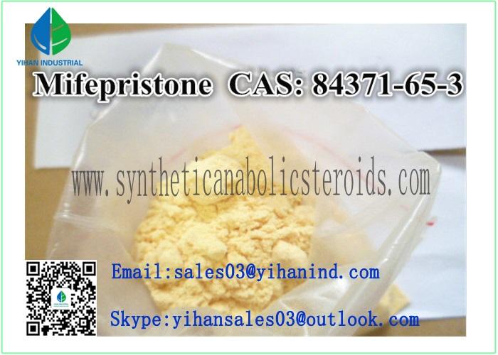 99% Raw Steroid Powder Abortifacient Mifepristone for Anti-Pregnancy CAS: 84371-65-3 Iris