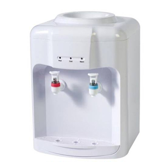 bottled hot and cold countertop water dipsenser,electronic cooling,100% new pp material cold tank