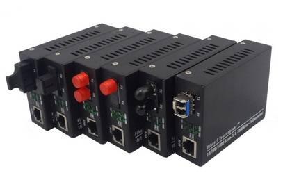 10/100/1000 Mbps Dual Fiber Media Converter