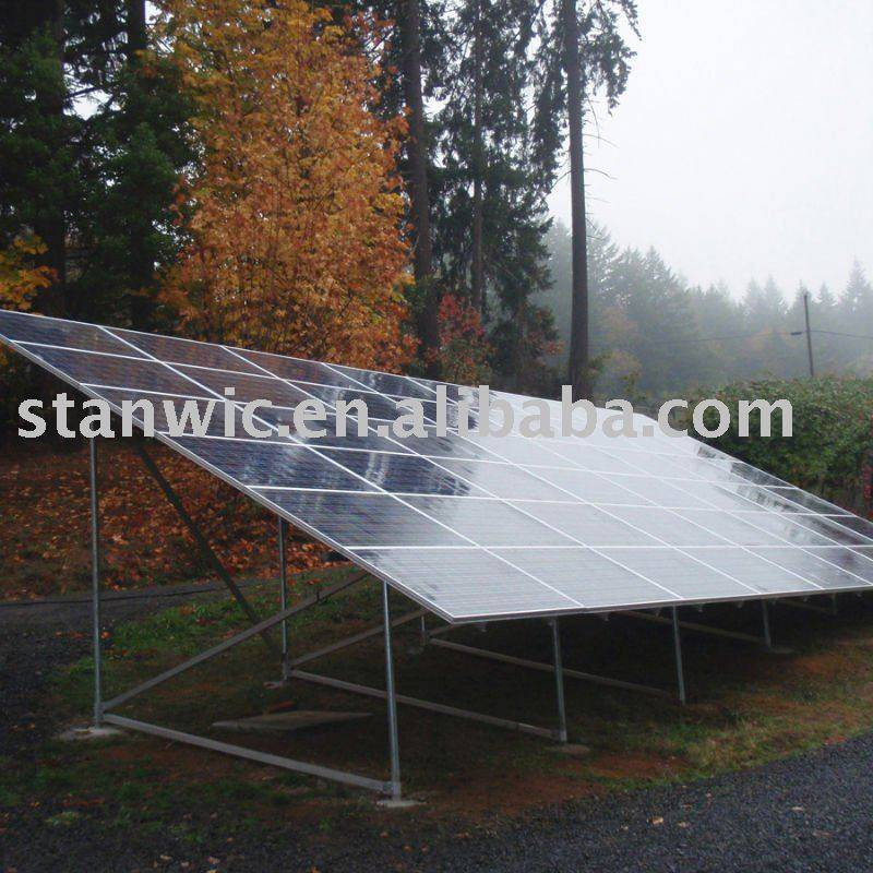 Solar mounting bracket-ground system