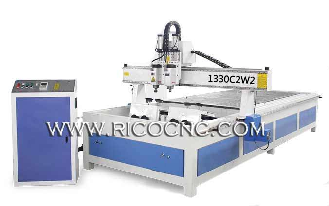Bent Wood Chair Back Engraving Cutting CNC Router Machine 1330C2W2