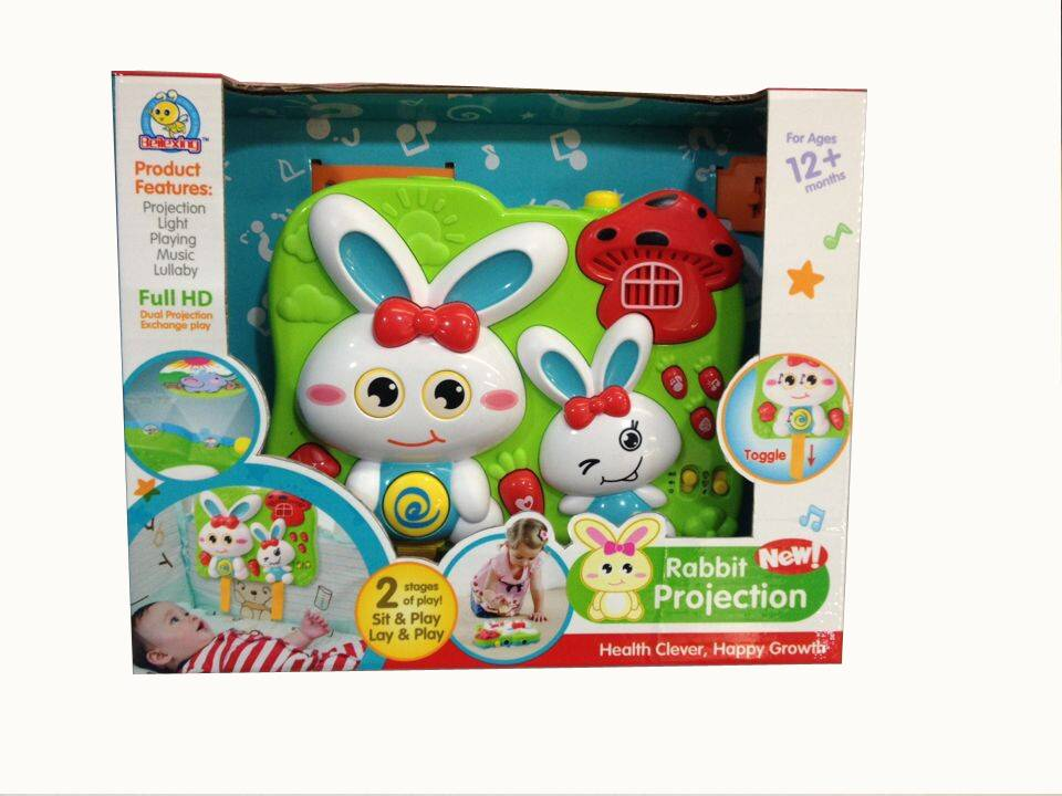 Hot sale Baby Playing Music, Rabbit Projection