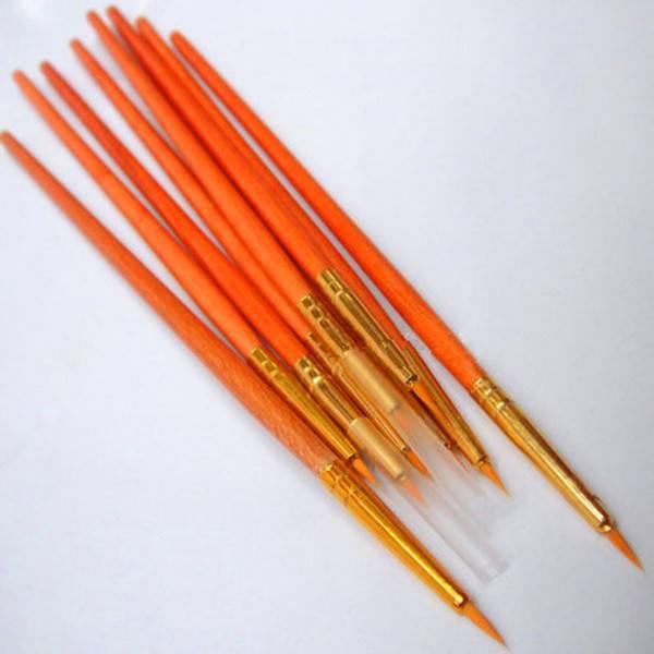 DIY digital artist brush two-color nylon line nail art make up pen