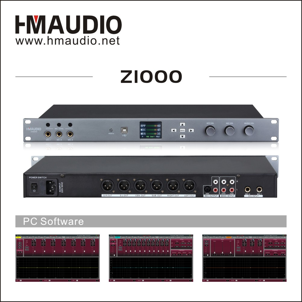 Z1000 High-quality digital karaoke processor preamplifier DSP processor