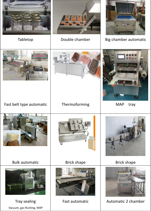 different types semi totally automatic single double chamber tabletop free standing vacuum packing