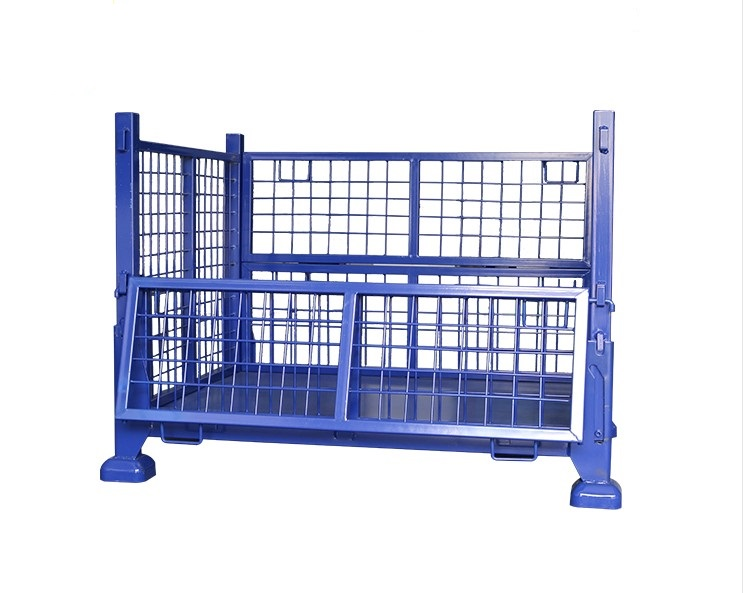 Warehouse Storage Foldable Steel Pallet Box Stillage Wire Mesh Cage