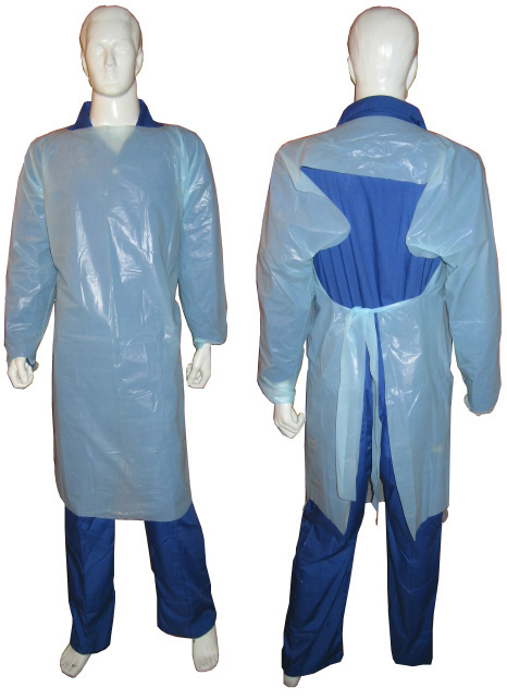 Trade Insurance Good Quality Disposable CPE Protective Gown for Wholesales