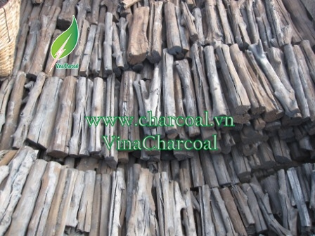BBQ restaurant Mangrove charcoal from salt tolerant tree in Vietnam