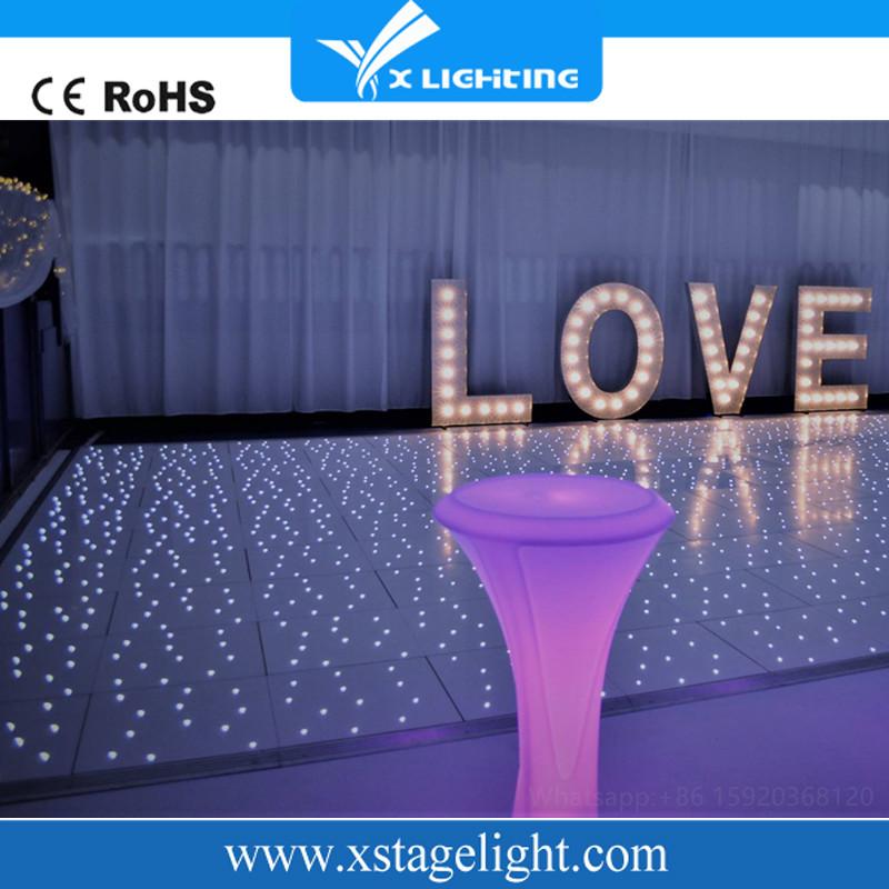 Wedding acrylic panels star light up video starlit portable led dance floor