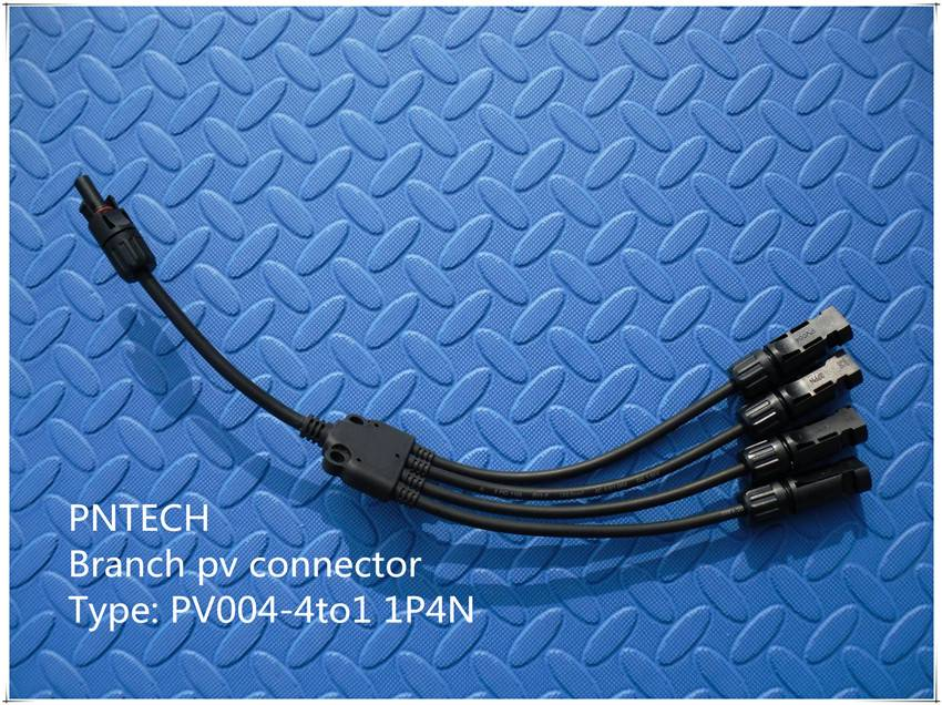 Ip67 Pv Connector 4 to 1 Branch Connector 4P1N/1P4N High Quality Solar Junction Box With Mc4 Connect