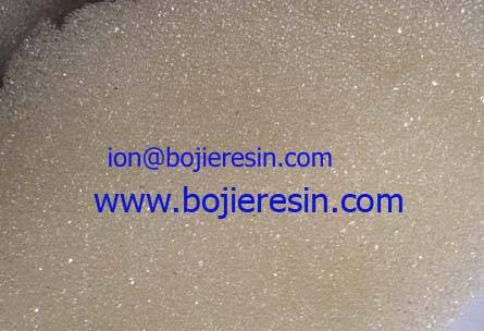 Anion resin for anionic metal complexes.