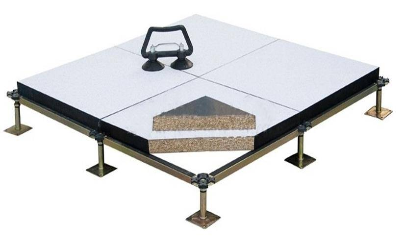 Wood core anti-static access floor
