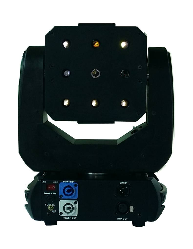 9 matrix moving head laser,Total dimmer and each dimmer, beam and strobe effect