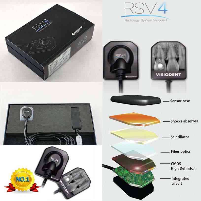 France Original Visiodent RSV4 X-Ray Dental Digital Sensor